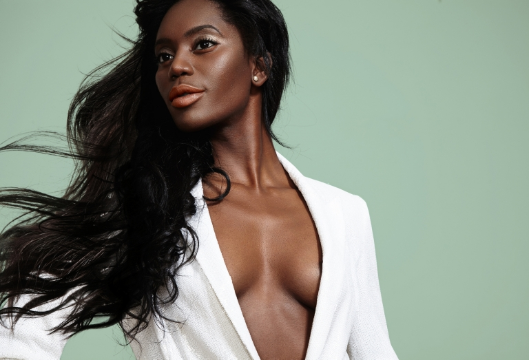 Beauty-Black-Woman-With-A-Blow